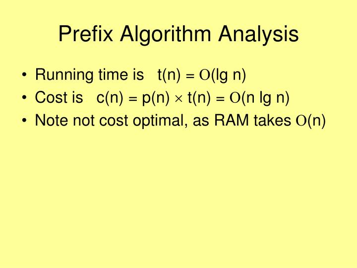 Prefix Algorithm Analysis