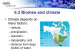 6 3 biomes and climate