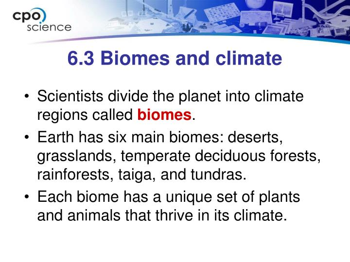 6 3 biomes and climate1