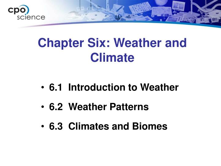 Chapter six weather and climate
