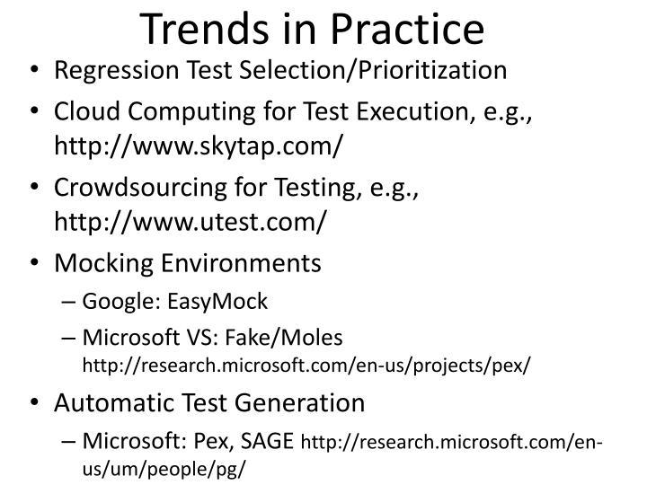 Trends in Practice