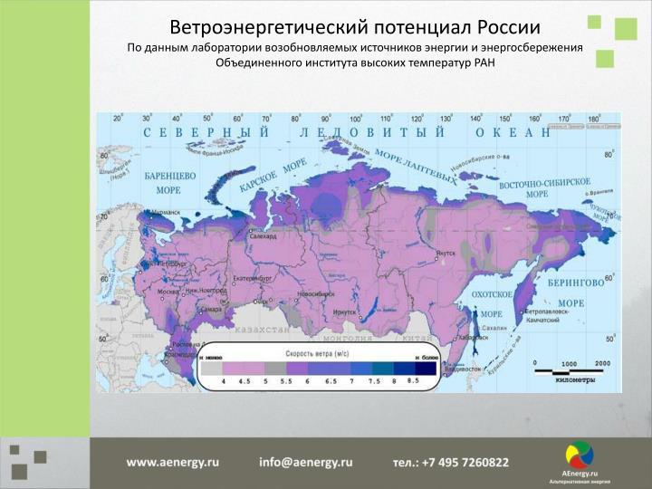 Ветроэнергетический потенциал России