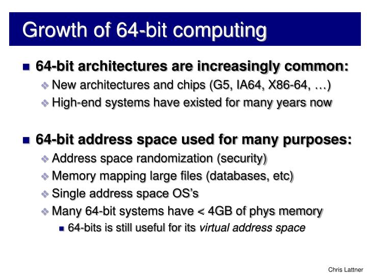 Growth of 64 bit computing