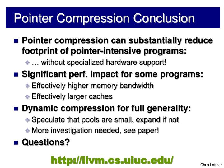 Pointer Compression Conclusion