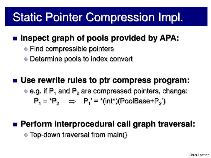 Static Pointer Compression Impl.