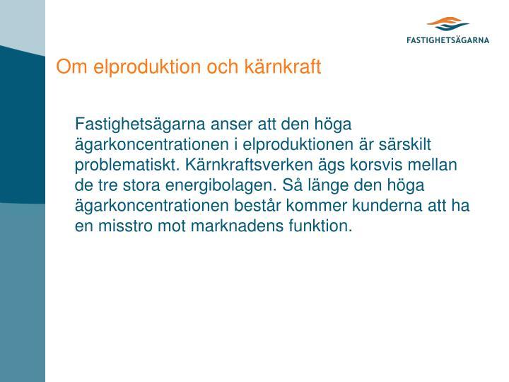 Om elproduktion och kärnkraft