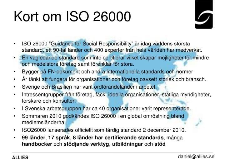 Kort om ISO 26000