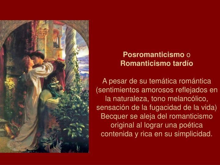 Posromanticismo
