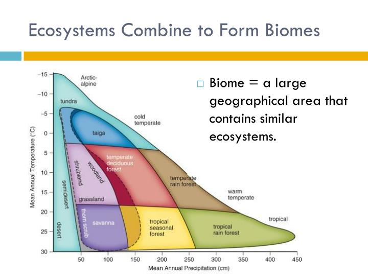 Ecosystems Combine to Form Biomes