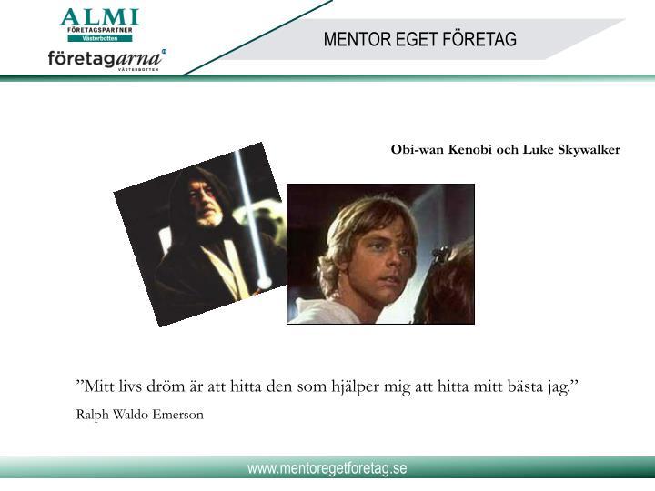 Obi-wan Kenobi och Luke Skywalker