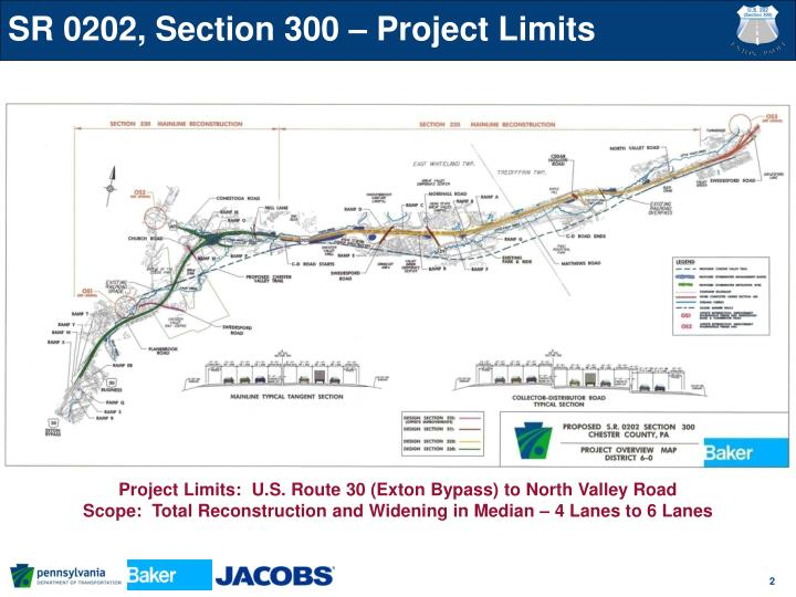 SR 0202, Section 300 – Project Limits