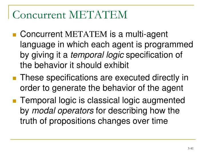 Concurrent METATEM