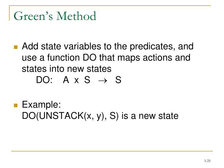 Green's Method