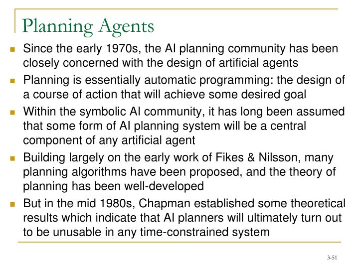 Planning Agents