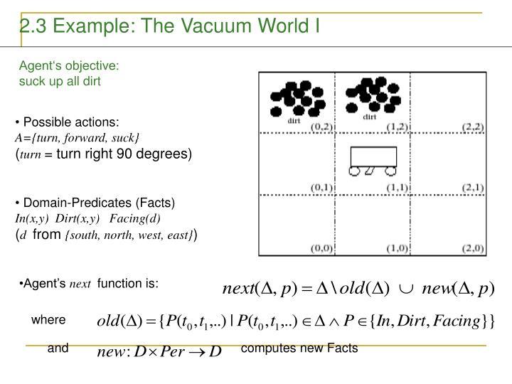 2.3 Example: The Vacuum World I
