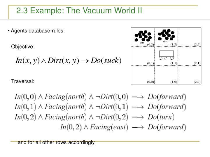2.3 Example: The Vacuum World II