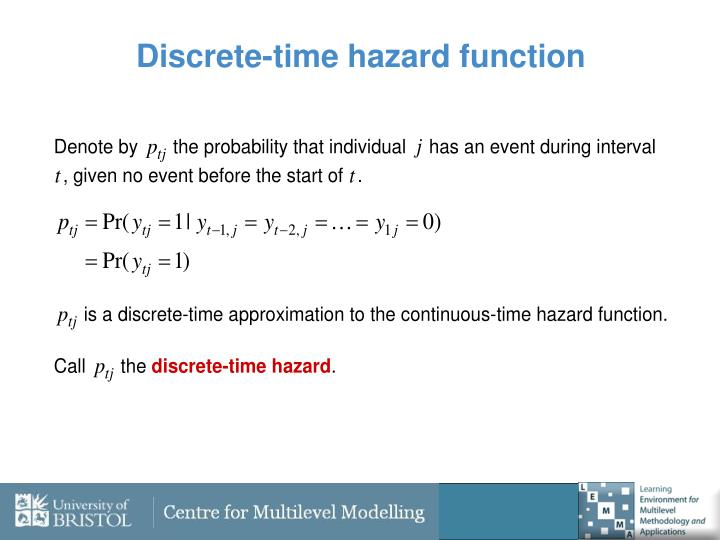 Discrete-time hazard function