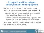 example transitions between employment and non employment