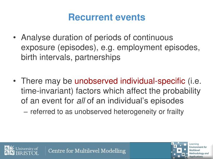 Recurrent events