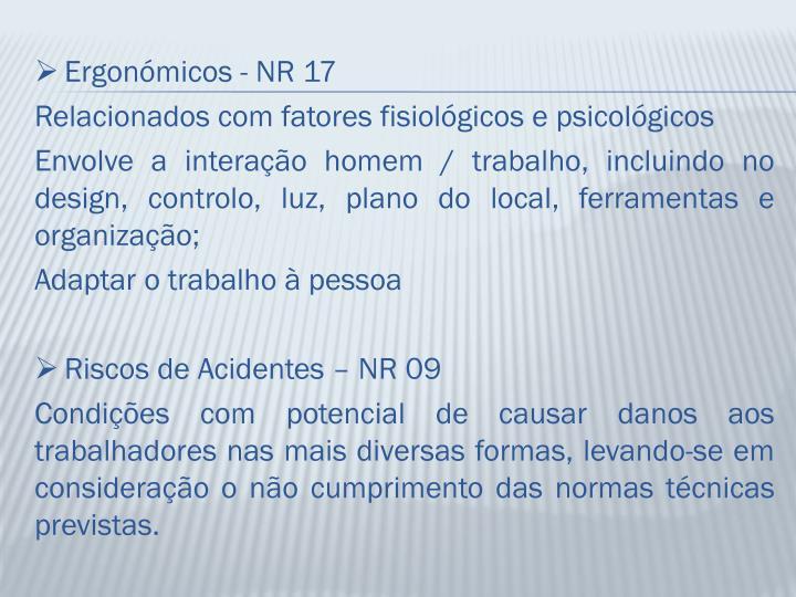 Ergonómicos - NR