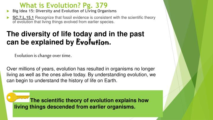 What is Evolution? Pg. 379