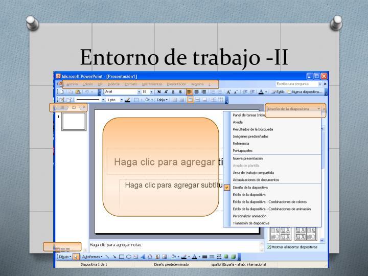 Entorno de trabajo -II