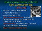 environmental history of the us early conservation era 1870 1930
