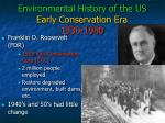 environmental history of the us early conservation era 1930 1960