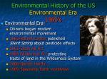 environmental history of the us environmental era 1960 s
