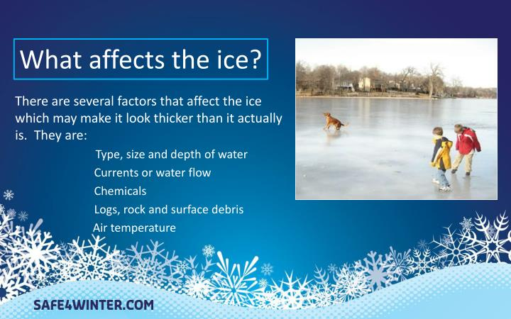 What affects the ice?
