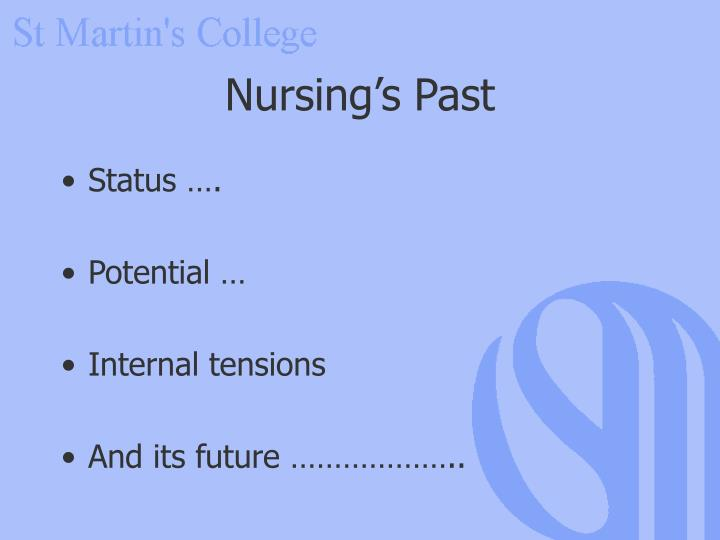 Nursing's Past