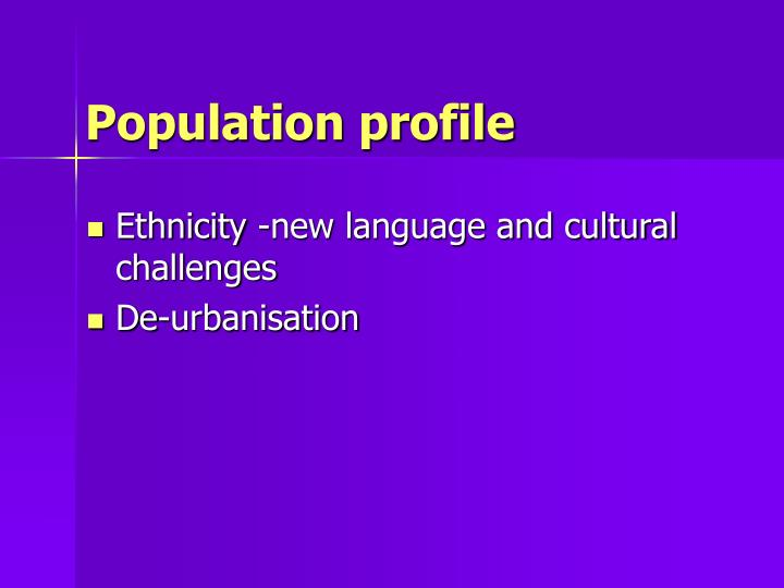 Population profile