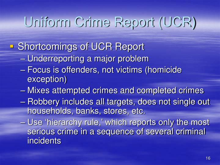 uniform crime reports part 1 offenses Ucr offense definitions the ucr program collects statistics on the number of offenses known to law enforcement or part i offenses.