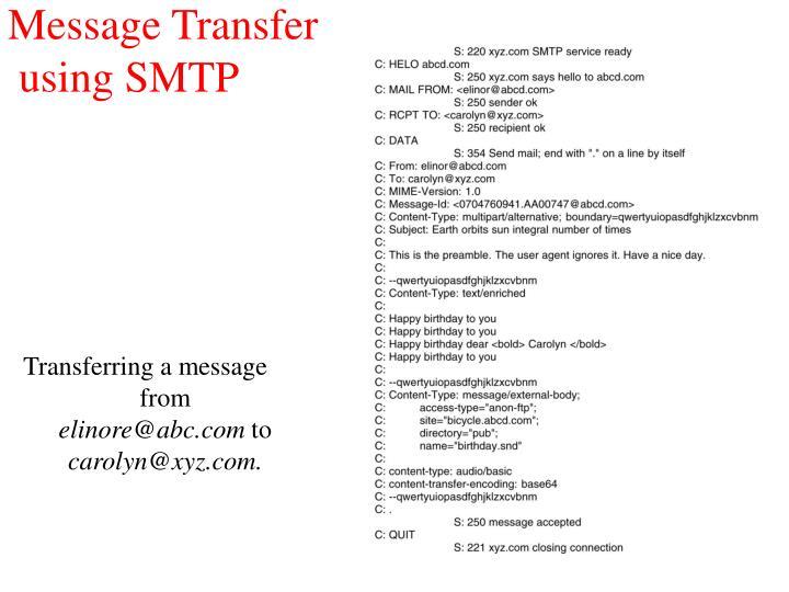 Message Transfer