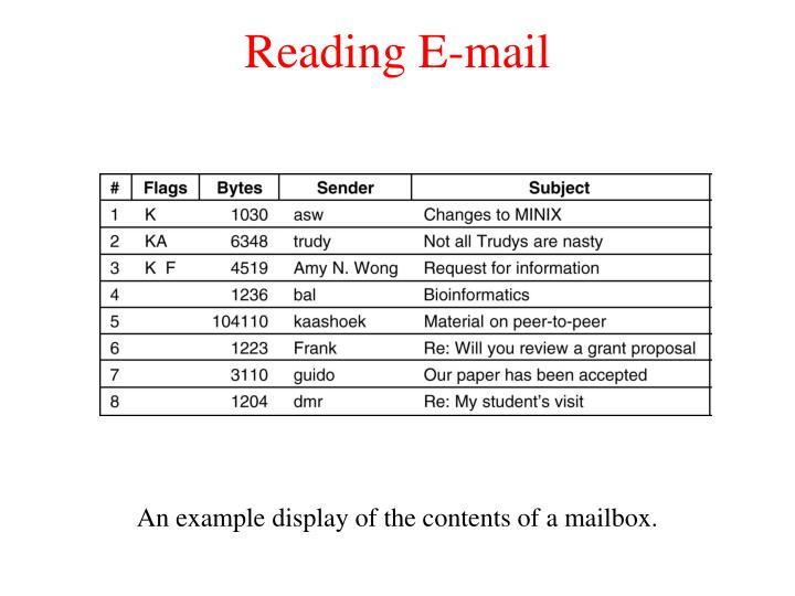 Reading E-mail