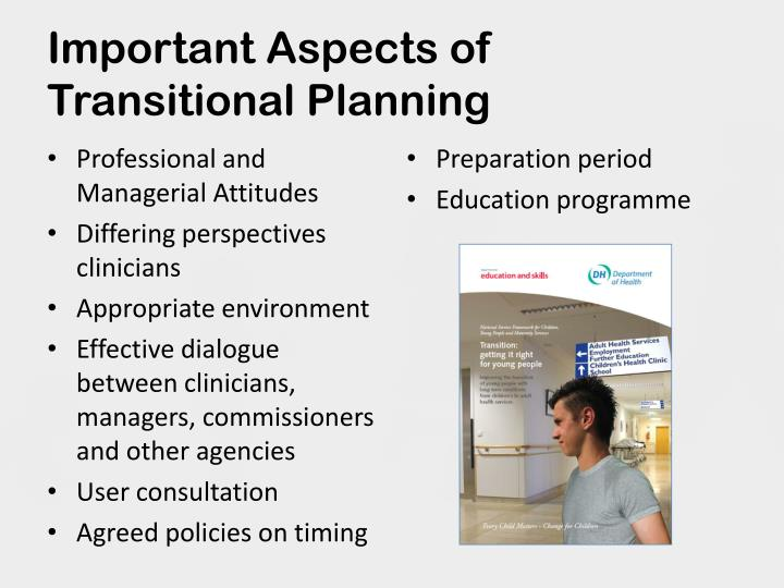 Important Aspects of Transitional Planning