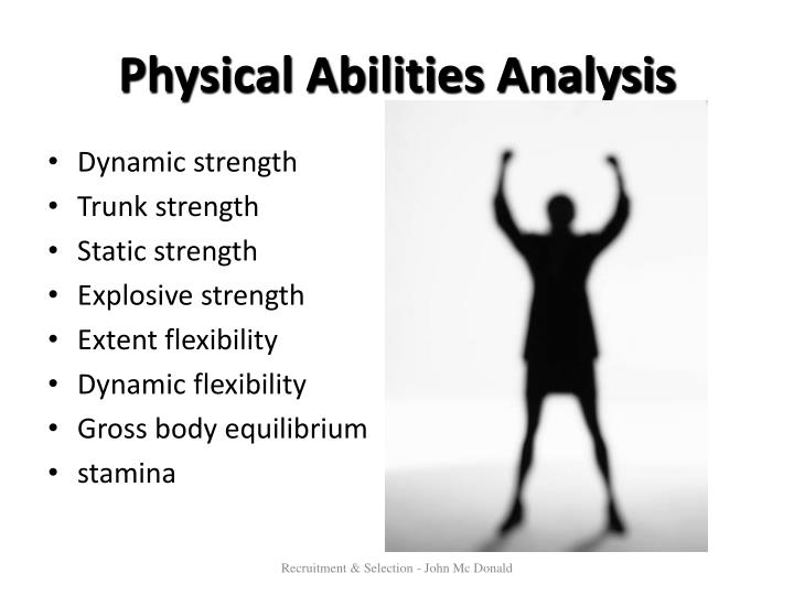 Physical Abilities Analysis