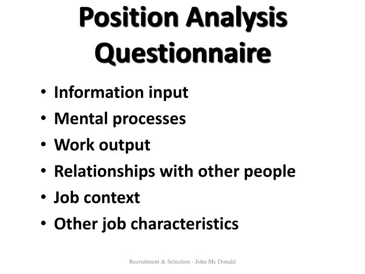 Position Analysis