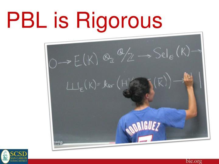 PBL is Rigorous