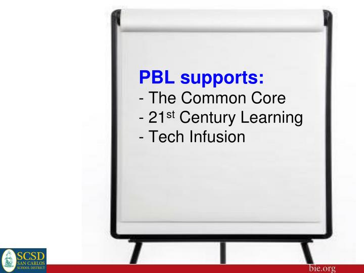PBL supports: