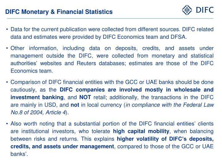 DIFC Monetary & Financial Statistics