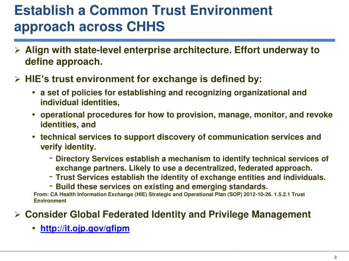 Establish a Common Trust Environment