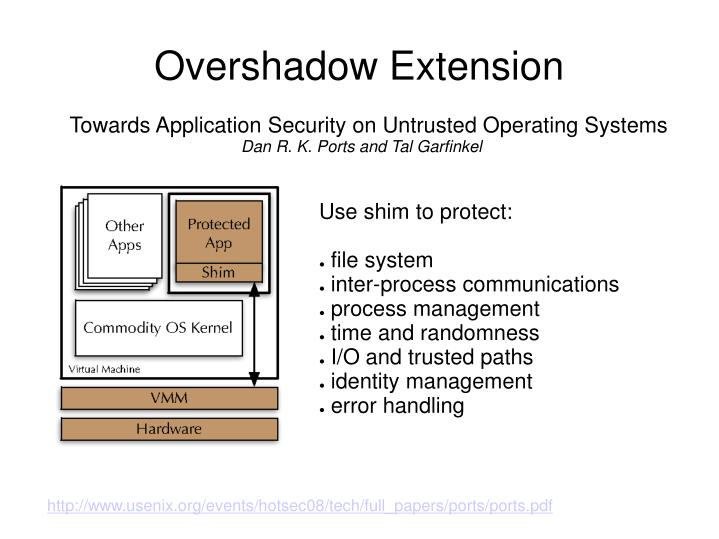 Overshadow Extension