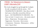 from no telephone to heaven 1987 michelle cliff