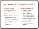 literary comparison of elements