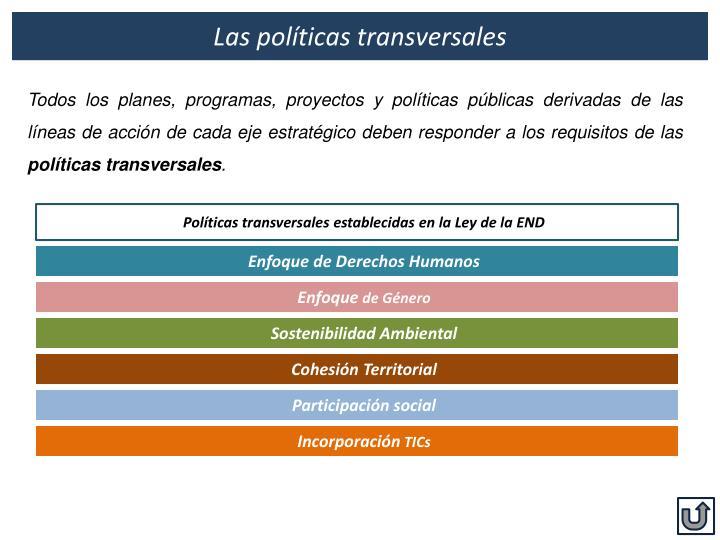 Las políticas