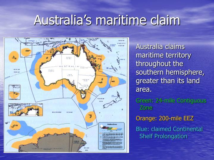 Australia's maritime claim