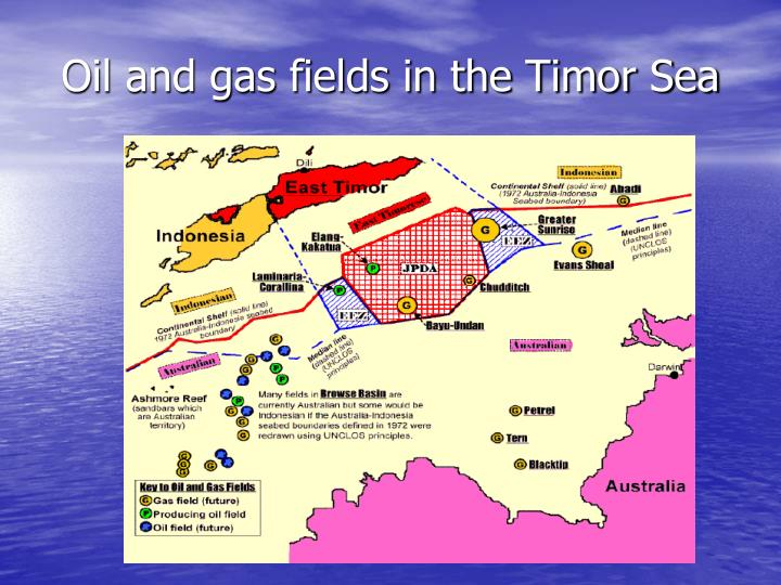 Oil and gas fields in the Timor Sea