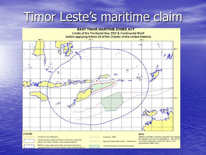 Timor Leste's maritime claim