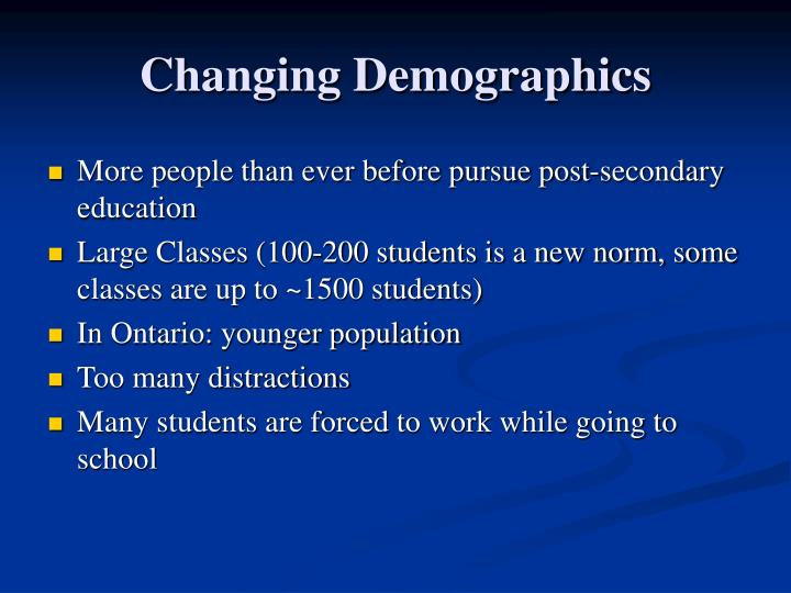 Changing Demographics